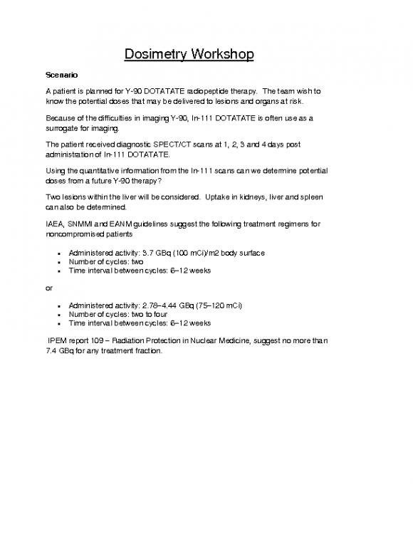 Dosimetry workshop handouts_JG