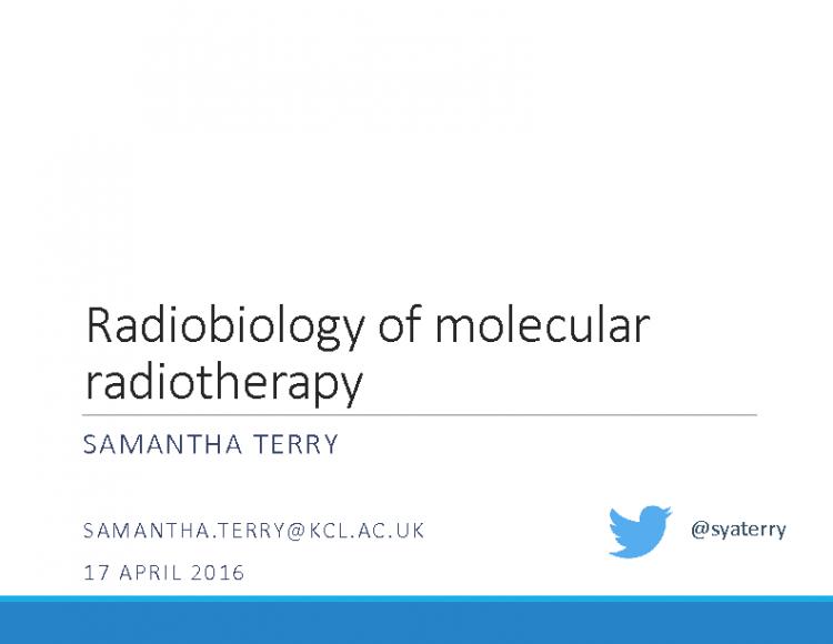 IDUG BNMS 2016 Terry Radiobiology for MRT